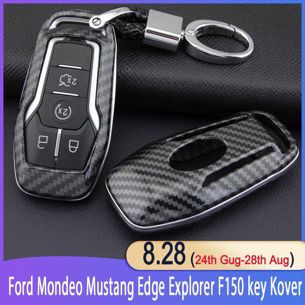 Key Case Fob Bag Holder ABS Hard Shell Cover Parts Fit For Ford Mondeo Mustang Edge Explorer F150 key cover