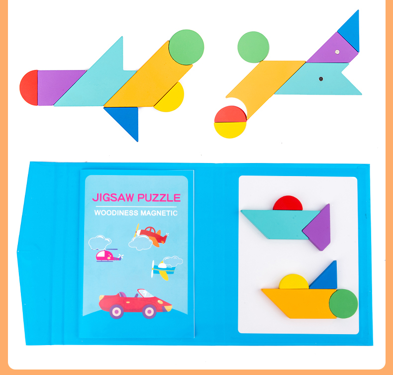 Portable Magnetic Tangram Book