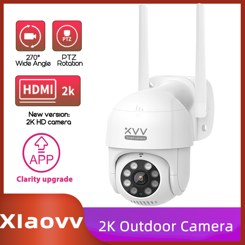 Xiaomi Xiaovv P1 IP Camera PTZ Action Camera IP65 Infrared 8 Night Vision Rotation 2K HD Image Quality Lights Stand Mi Home