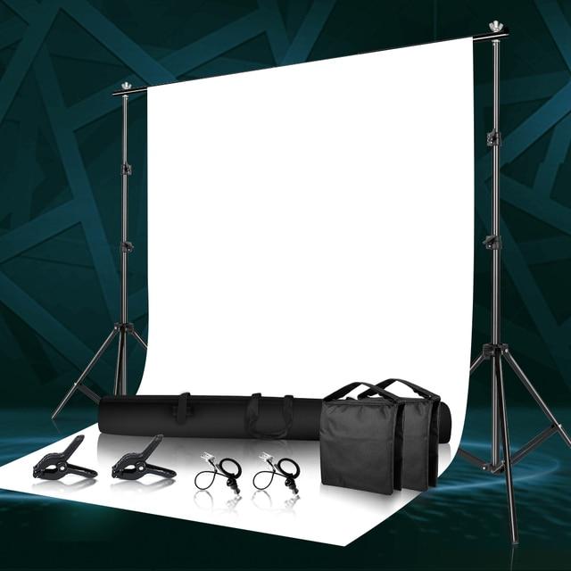 Fotoğraf arka plan Backdrop destek sistemi seti kelepçe ile, taşıma çantası fotoğraf stüdyosu için Youtube fotoğraf arka planında