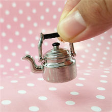wholesale 1:12 dollhouse miniature Vintage kettle Kicthen toy match for doll accessories New collectible Gift(China)