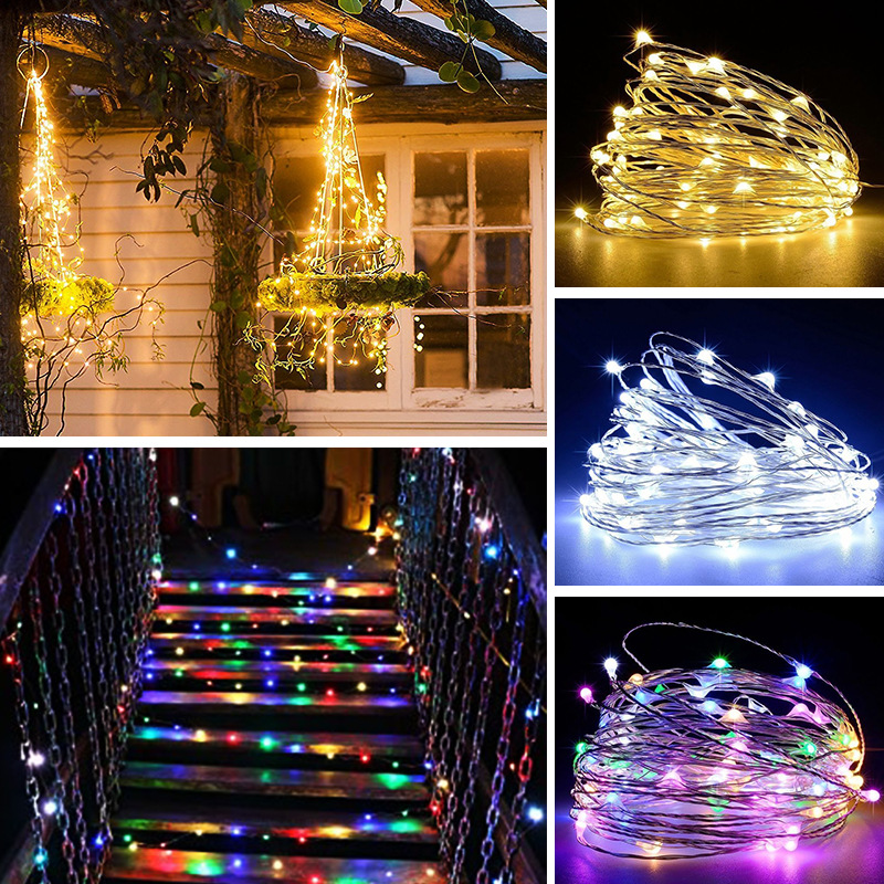 5M 10M 20M LED String Light Holiday Home Decoration Lighting Fairy Garland Lights String For Christmas Valentine's Day Party