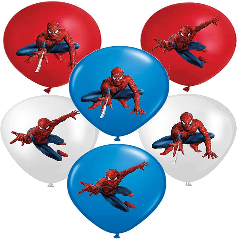 Justice League Spiderman Latex Balloons Kids Boy Super Hero Birthday Spiderman Party Decorations Happy Birthday Spider Mask Toys