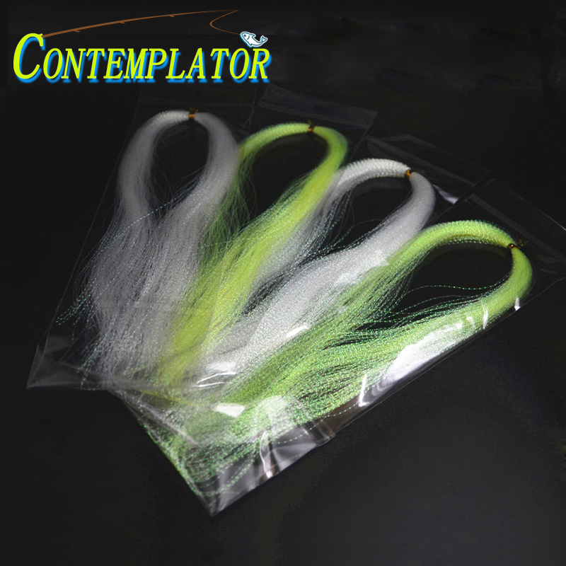 Corrugated Flash Strands Gliss/' N Glow Iridescent Flashbou Fly Tying Materials