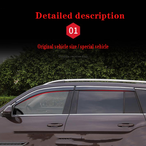 Image 5 - 4Pcs Car Window Visor Door Rain Sun Shield Side Windows Cover Trim Auto Accessories For Volkswagen Teramont
