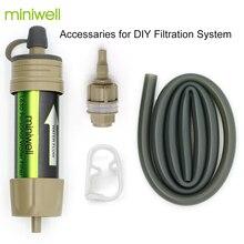 Miniwell חיצוני נייד הישרדות מים טיהור מטהר יכול לשתות מים ישירות עבור קמפינג חירום ערכה