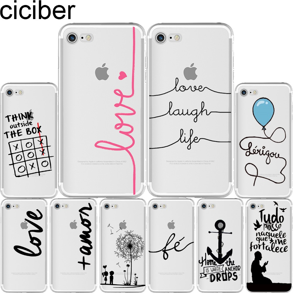 Ciciber French Portuguese Words Pirate Love Life Soft TPU Fundas para móviles para iPhone 11 Pro Max 6 6S 7 8 Plus 5S SE X XR XS Max Capa