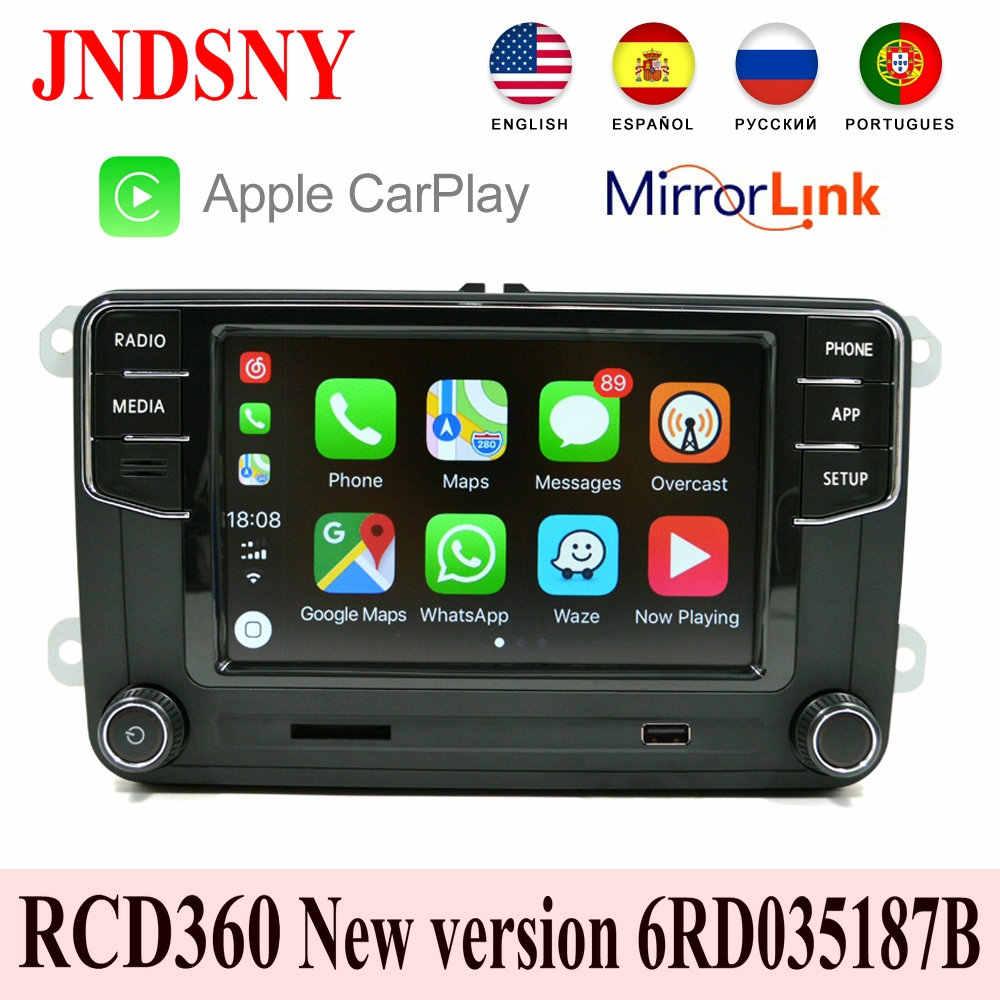 Autoradio Carplay, Mirrorlink (MIB RCD360), 6RD 035 187B, pour voiture VW, Polo, Golf 5/6, Jetta MK5/MK6, Tiguan, Passat B6/B7, nouveauté