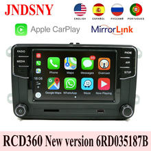 RCD360 Carplay Mirrorlink Radio MIB nowy RCD330 6RD 035 187B dla VW Touran CC Polo Golf 5 6 Jetta MK5 MK6 Tiguan Passat B6 B7(China)