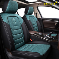 KADULEE leather car seat cover For ssangyong kyron actyon sport korando rexton accessories covers for vehicle seats
