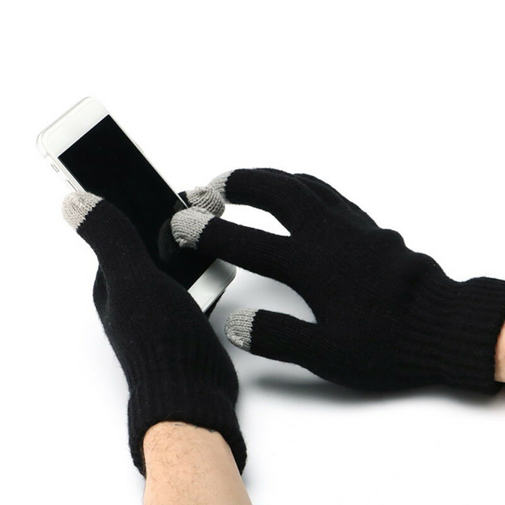 Outdoor Winter Thermal Gloves Hand Warmer Knitted Heated Glove Snowboard USB Powered Motorcycle Cycling Mittens