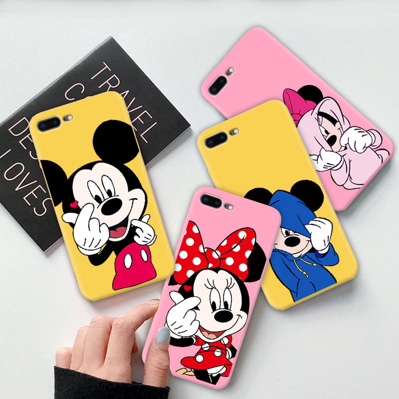 Covers For <font><b>iPhone</b></font> SE Case Cover Multi Color Soft TPU Phone Back For Apple <font><b>iPhone</b></font> 8 7 <font><b>6</b></font> Plus <font><b>6</b></font> 6S 5 5S SE Case <font><b>Coque</b></font> Cute <font><b>Mickey</b></font> image