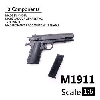 "1:6 M1911 A1 Gun Model For 12"" Action Figure Plastic Black Soldier Weapon Toy"