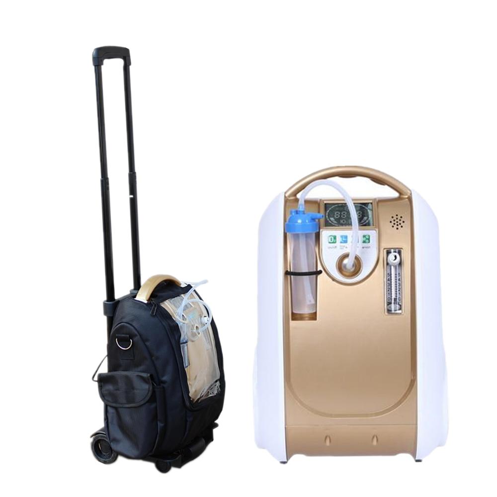 Coxtod 24hrs contínuo portátil oxigênio gerador uso doméstico concentrador de oxigênio com modo de ajuste de tempo à noite