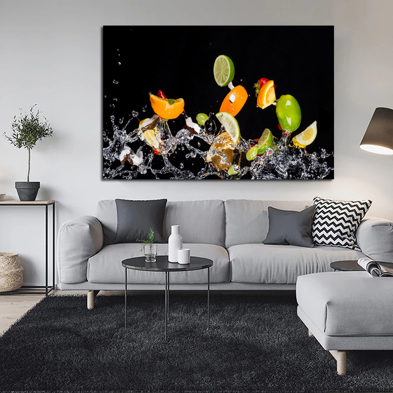 Fruit Salad Realist Oil Painting Posters Modern Wall Art Canvas Painting Unique Gift For Art Wall Home Kitchen Decoration