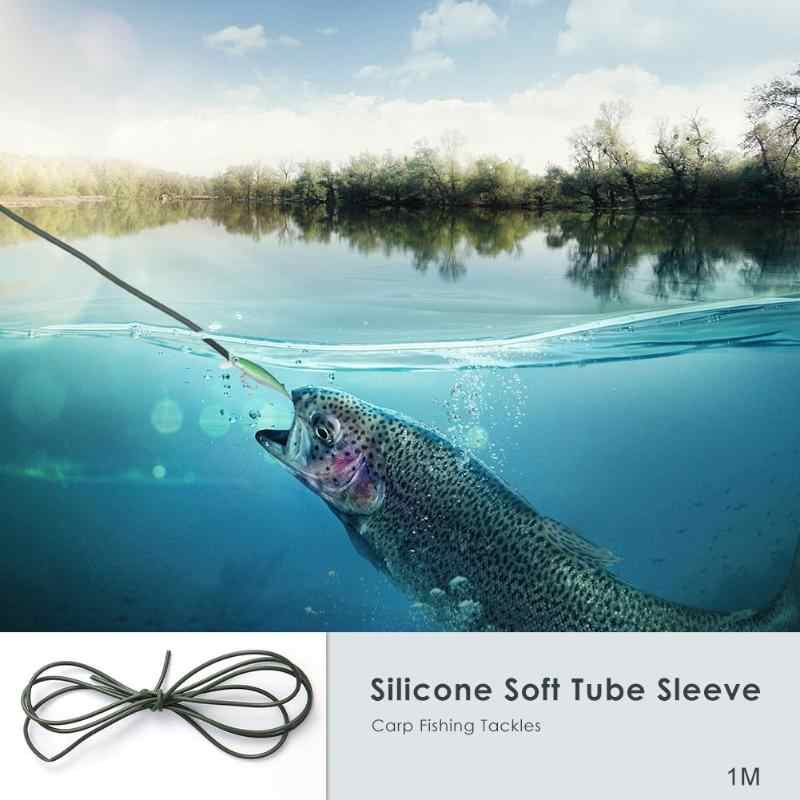 1m DIY Silicone Soft Rigs Tube Mouwen voor Karper Vissen Tackles Accessoires