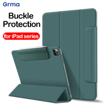 GRMA Original Leather Cover for iPad Pro 12.9'' 11'' inch 2020 Magnetic Auto Wake Sleep Case for iPad Pro Buckle Protection Case цена 2017