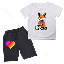Likee t shirt and shorts pants 2pieces clothing sets boys children's