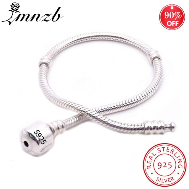 LMNZB 100% Original 925 Sterling Silver Snake Chain Bangle & Bracelet With Silver Certificate 16-23CM Bracelet for Women LFH005 1