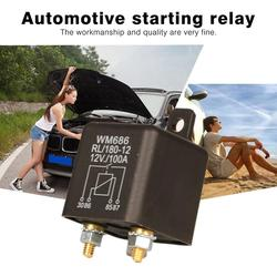 New DC 12V 100A Heavy Duty Split Charge ON/OFF Relay Car Truck Boat Car Start Relay Durable Self Installation