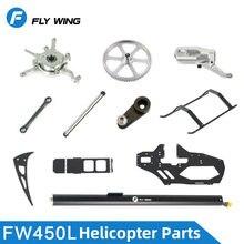 Fw450l rc helicóptero peças de reposição engrenagem principal rotor habitação braço controle conjunto eixo principal feathering eixo