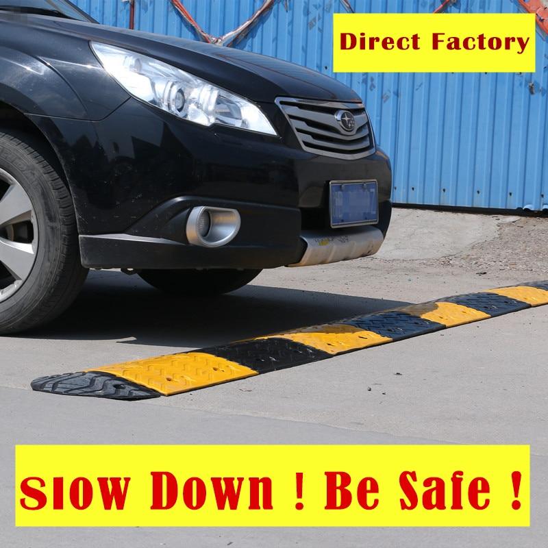 Road Speed-Reducing Bumps Deceleration Rubber Belt Reducer Automobile Parking Slope Cushion Shock Belt Speed Limit Ridge