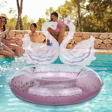 High Quality Doll Swimming Ring Doll Mixed Style Animal Cute Bird White Swan Inflatable Lifebuoy Toy Accessories for girl