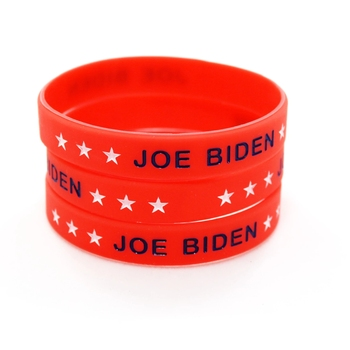 Great Men Silicone Rubber Red Jewelry Women Stars Band Make Support 1pc Bracelet Joe image