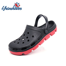 YEINSHAARS Men Summer Casual Sandals Crocse Shoes Mens Beach Slippers Breathable Hole Flats Light Ma