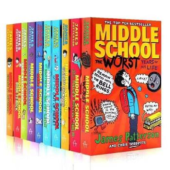 10 книг/Набор для средней школы, английские книги для чтения, школьные книги для студентов