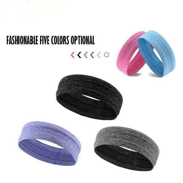 Fitness yoga hair bands jogging running sports sweat-absorbent belt silicone non-slip antiperspirant headband sports scarf belts 1