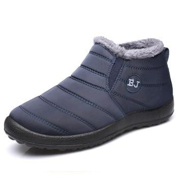 2019 Plataforma de invierno Zapatos casuales para mujer Zapatillas de deporte Zapatos de invierno súper cálidos Zapatos de tobillo de piel cálida para mujer 1