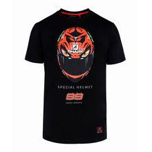 Moto Racing Gp Jorge Lorenzo 99 T-shirt Helm Mode Stijl Mannen Zwarte T-shirt Sport Outdoor Leisure Top