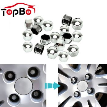 Hot 20Pcs Car Wheel Nut Caps 17 19 21mm Wheel Lug Bolt Center Nut Covers Caps Anti-Rust Hub Screw Protector Car Accessories image