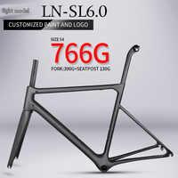 Cadre de vélo de route en carbone super léger T1000 766g cadre de vélo en fibre de carbone de haute qualité chinois BB86 câble intérieur