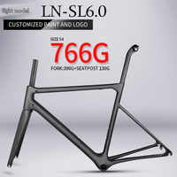 super light T1000 carbon road bike frame 766g Chinese high quality racing framest carbon fibre bicycle frame BB86 inner cable
