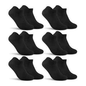 Image 4 - Хлопковые мужские однотонные носки no show, мужские носки большого размера, брендовые носки 6 парт/лот (ЕС 39 46) (США 7,0 12,0) VKMONY