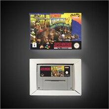 Donkey Kong Country 2, Diddy Kongs Quest versión europea, tarjeta de juego, RPG, batería, guardar con caja de venta al por menor