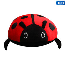 Kawaii Cute Plush Toy Soft Creative Ladybug Ladybird Insect Hold Doll Pillow Cushion Novelty Children Birthday Gift Three Sizes(China)