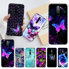 HPCHCJHM Colorful Butterfly Patterns Black TPU Soft Rubber Phone Cover for Redmi Note 8 8A 8T 7 6 6A 5 5A 4 4X 4A Go Pro 7 5 cm single joint slide fader potentiometer a10k handle with rubber dust 8t