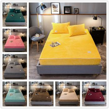 Claroom Stereoscopic Stripe Flannel Fleece Bed Cover Weighted and Thick Winter Warm Bedspread Solid Bed Sheet IM80#