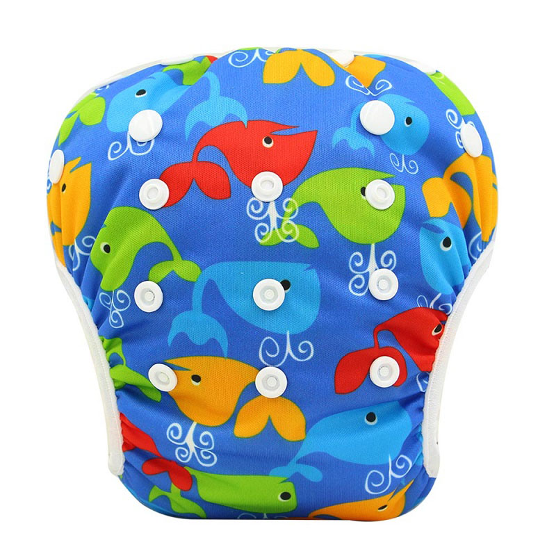 Ohbabyka Baby Swim Pool Diaper For Girls Boys Swimsuit Reusable Nappies Swim Diapers For Babies Training Pants Swimwear 3-13kg