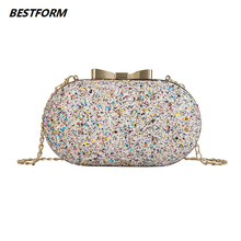 Fashion Mini Clutch Purses Sequin Casual Female Shoulder Evening Bags For Women Crossbody Sparkling Package Luxury Handbags