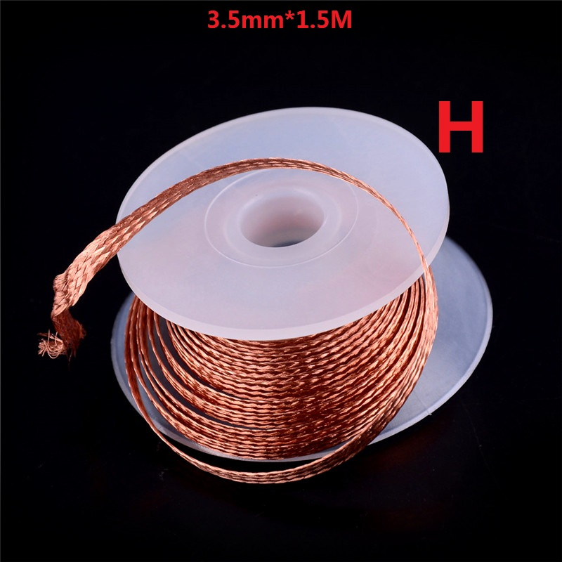 Many Choices Desoldering Braid Solder Remover Soldering Enamelled Reel Wire Roll Wick Wire Repair Tool 0.1-3.5mm 1.5/10/11/100M