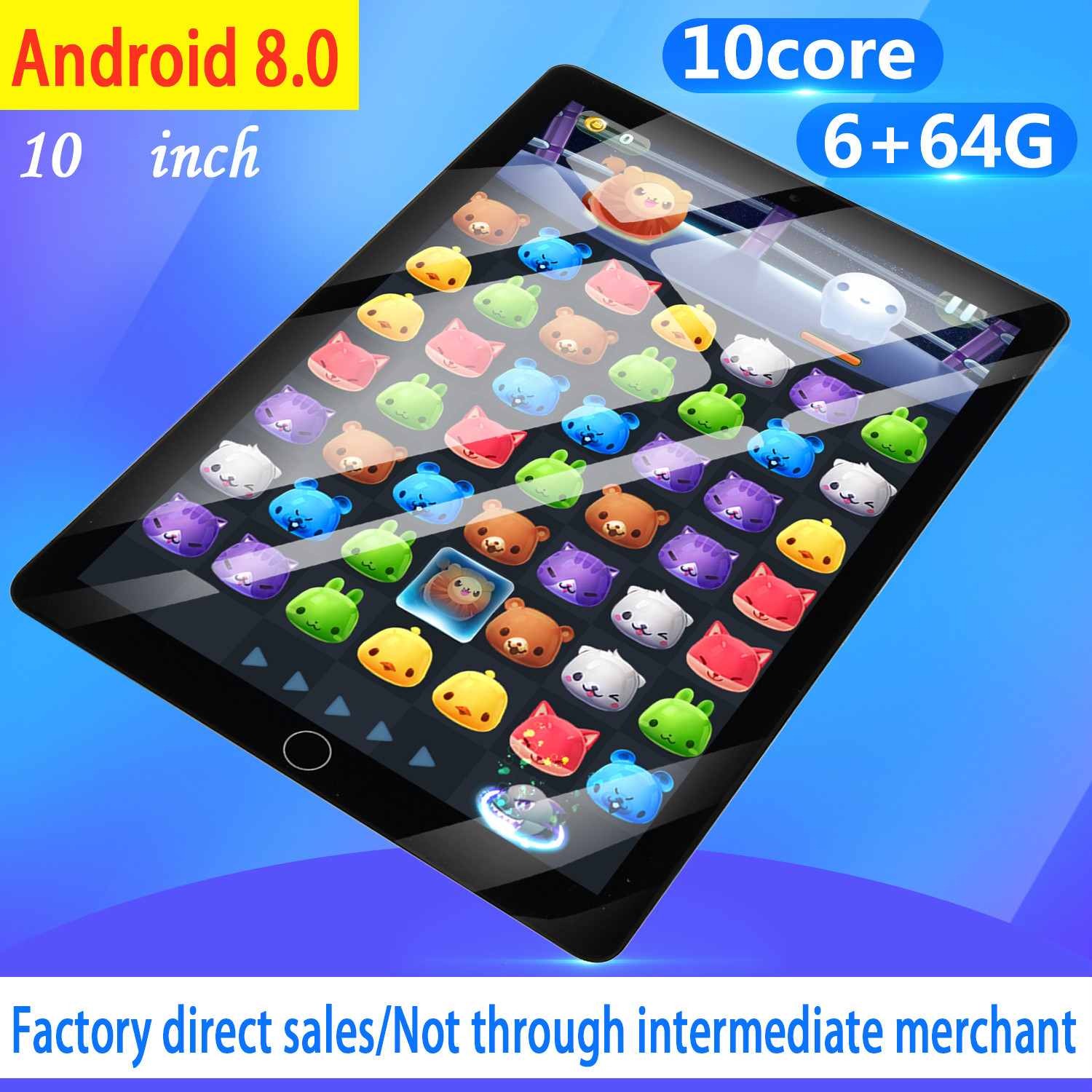 2020 10 Inch Tablet Pc Android Tablet  6GB+64GB Dual SIM 4G Tablet 10Core Android 8.0 Bluetooth WiFi Tablets