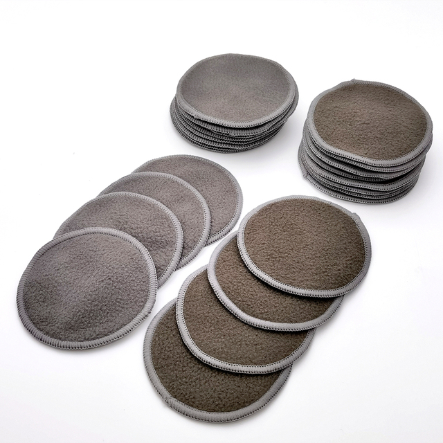 Reusable Bamboo Makeup Remover Pads 12pcs/Bag Washable Rounds Cleansing Facial Cotton Make Up Removal Pads Tool 2