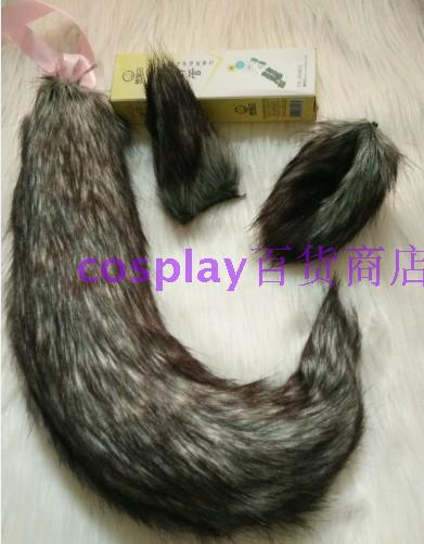 Comic Cosplay Props All-match Plush Full Gra'y Fox Wolf Tail Ear