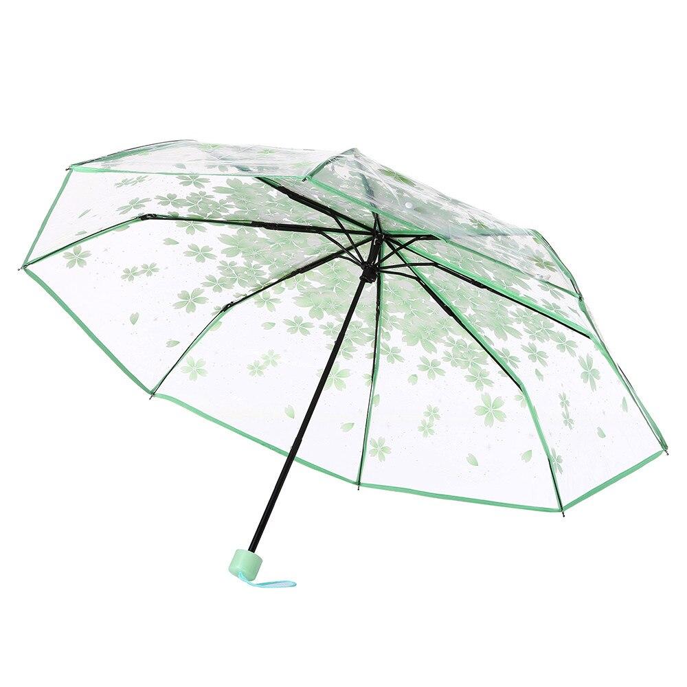 Мини-зонт, женский зонт, 5 раз, плоский светильник, Сумка с карманом и ультра-светильник, зонт, складной солнцезащитный зонтик, зонты Y1 - Цвет: Green 2