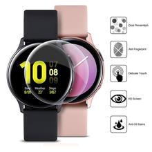 Закаленное защитное стекло, пленка с защитой от царапин, защитная пленка для Samsung Galaxy Watch Active 2 40 мм 44 мм, аксессуары для умных часов