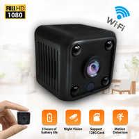 Mini Macchina Fotografica HD 1080P Sensore di Visione Notturna Videocamera Interna Micro Macchina Fotografica di CC 5v Alimentato Video Telecamera di Sorveglianza